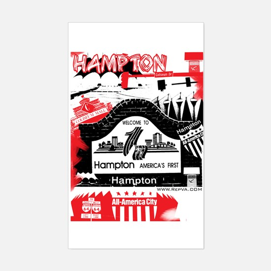 Hampton 2 Rectangle Decal
