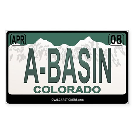 A-Basin Plate Rectangle Sticker