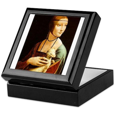 Leonardo da Vinci Lady Ermine Keepsake Box