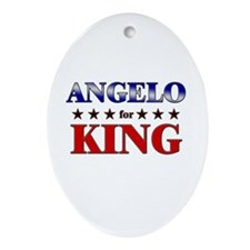 ANGELO for king Oval Ornament