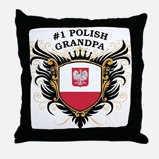 Number One Polish Grandpa Throw Pillow