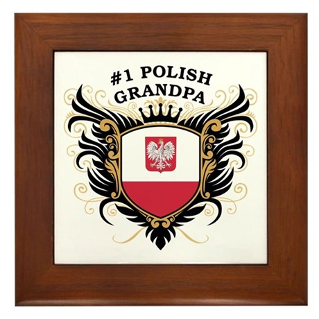Number One Polish Grandpa Framed Tile