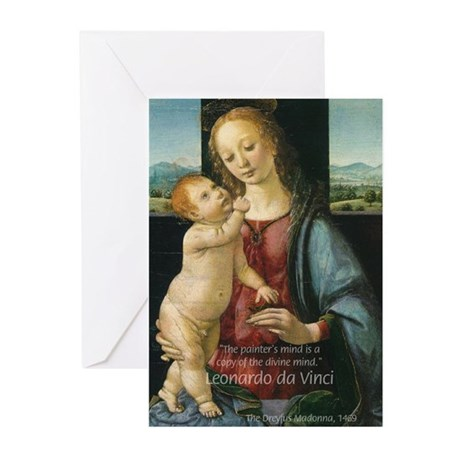 Leonardo da Vinci Madonna Greeting Cards (Package