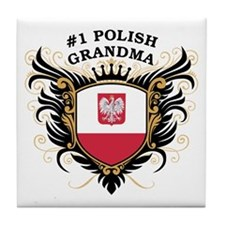 Number One Polish Grandma Tile Coaster