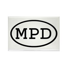 MPD Oval Rectangle Magnet