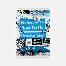 Norfolk 2 Rectangle Magnet