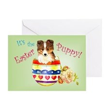 Easter Sheltie Greeting Card