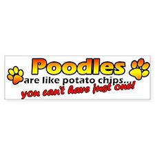 Potato Chips Poodle Bumper Car Sticker