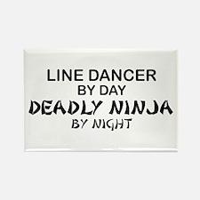 Line Dancer Deadly Ninja Rectangle Magnet