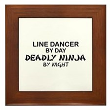 Line Dancer Deadly Ninja Framed Tile