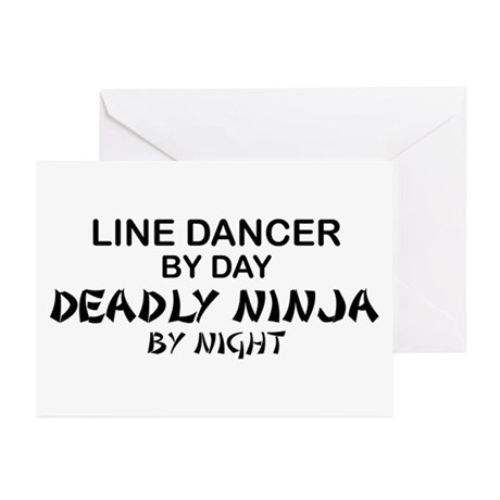 Line Dancer Deadly Ninja Greeting Cards (Pk of 10)