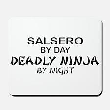 Salsero Deadly Ninja by Night Mousepad