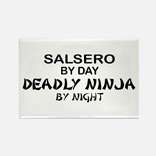 Salsero Deadly Ninja by Night Rectangle Magnet