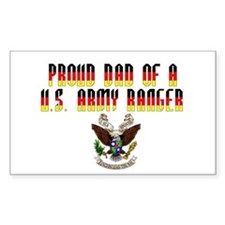 Proud Ranger Dad... Rectangle Decal