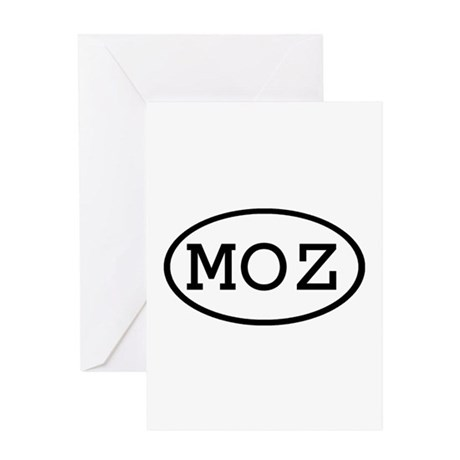 MOZ Oval Greeting Card