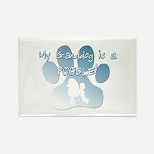 Poodle Granddog Rectangle Magnet (10 pack)