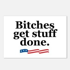 Bitches get stuff done. Postcards (Package of 8)