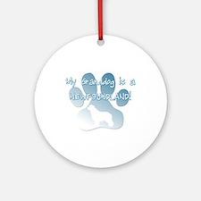 Newfoundland Granddog Ornament (Round)