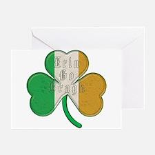 The Erin Go Braugh Irish Shamrock Greeting Cards (
