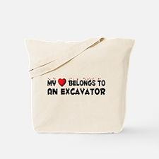 Belongs To An Excavator Tote Bag