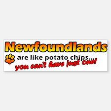 Potato Chips Newfoundland Bumper Bumper Bumper Sticker