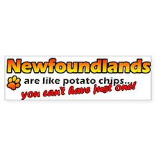 Potato Chips Newfoundland Bumper Bumper Sticker