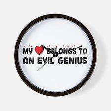 Belongs To An Evil Genius Wall Clock