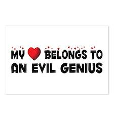 Belongs To An Evil Genius Postcards (Package of 8)