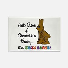 Save A Bunny Rectangle Magnet