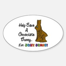 Save A Bunny Oval Decal