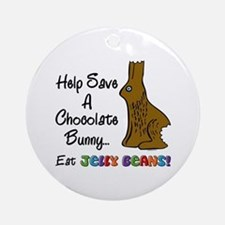 Save A Bunny Ornament (Round)