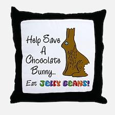 Save A Bunny Throw Pillow