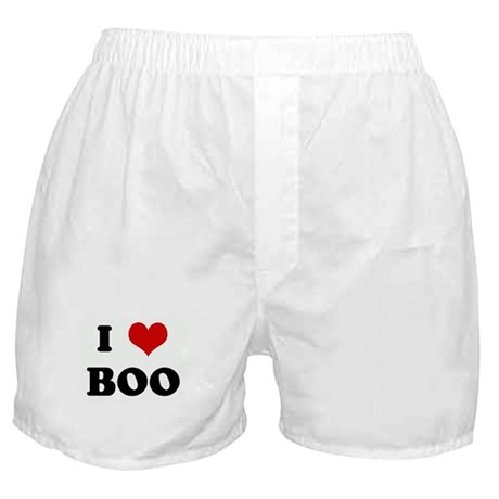 I Love BOO Boxer Shorts
