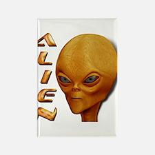 Alien Type 1 Dark Orange Rectangle Magnet