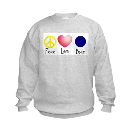 Peace, Love, Beads Kids Sweatshirt
