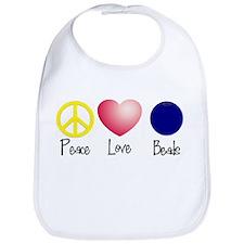 Peace, Love, Beads Bib