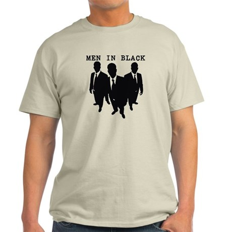 Men in Black Plain Light T-Shirt