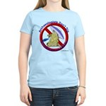 Archs Don't Dig Dino Or UFO'S Women's Pink T-Shirt