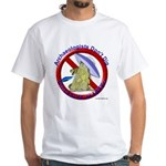 Archs Don't Dig Dino Or UFO'S White T-Shirt