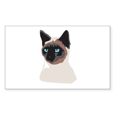 Blue-Eyed Kitty Rectangle Sticker