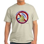Archs Don't Dig Dino Or UFO'S Ash Grey T-Shirt