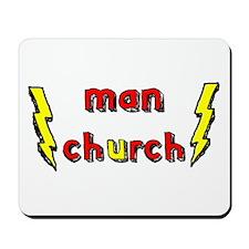 Man Church Mousepad