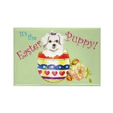 Easter Maltese Rectangle Magnet