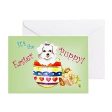Easter Maltese Greeting Card