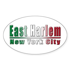 Italian East Harlem Oval Decal