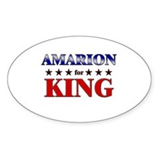 AMARION for king Oval Decal