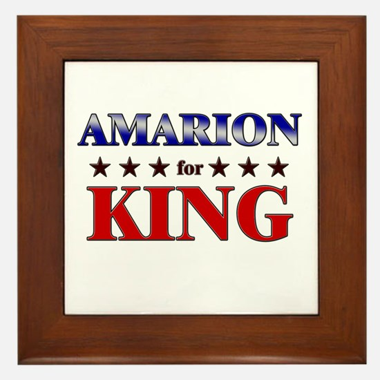 AMARION for king Framed Tile