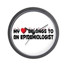 Belongs To An Epidemiologist Wall Clock