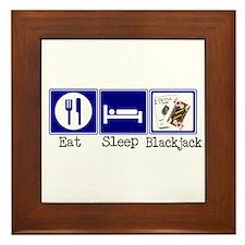 Eat, Sleep, Blackjack Framed Tile
