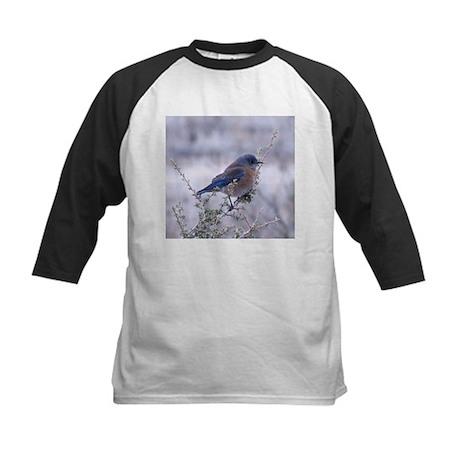 bluebird on a branch Kids Baseball Jersey
